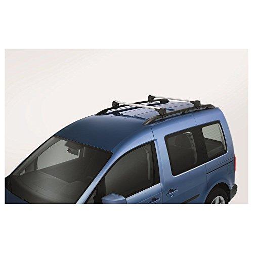Original VW Caddy (2K, Modelljahr 2011-2015) Grundträger Tragstäbe Dachgepäckträger Dachreling silber T-Nut 2K5071151A