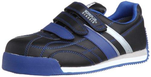 [ミドリ安全] 安全作業靴 JSAA認定 マジックタイプ プロスニーカー WPC555 メンズ ブラック/ブルー 30.0(30cm)