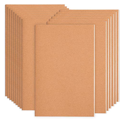 16 Pack Blank Notebook Journals for Travelers, Students and Office, Kraft Brown Soft Cover,A5 Size - 210 mm x 140 mm - 60 Pages/ 30 Sheets