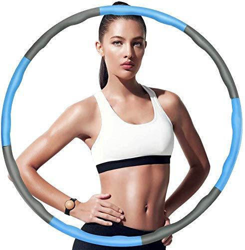 FITOOL Hoola Hoop zur Gewichtsreduktion, Reifen mit Schaumstoff, Einstellbar Breit 48–88 cm beschwerter Hoola-Hoop-Reifen für Fitness Erwachsene Fitnessreifen zum Abnehmen – Effizientes Bauch-Workout