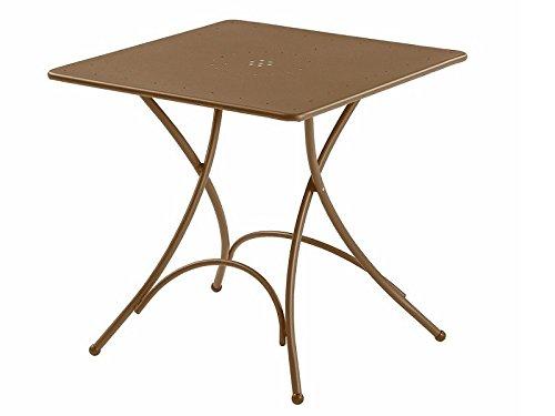Pigalle Table carré pliant cm. 76 x 76 Art. 907 Marron d'Inde Cod. 41