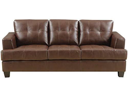 Coaster Samuel Transitional Sleeper Sofa, Dark Brown