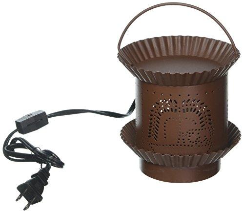 Darice Candle Lamp Candle Warmer - Electric - Rusty Tin