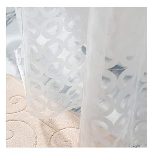 REIDEA Anti-Schimmel Duschvorhänge, Durchsichtig Badvorhänge 180X180 cm, Antibakteriell, 100% Eva, 3D Wasserdicht mit 12 Rings, Weiß