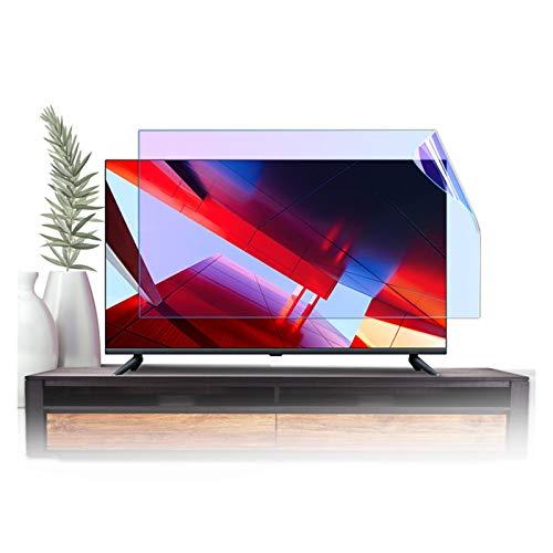 GFSD Protector Pantalla TV Antideslumbrante Protección para Los Ojos Filtro de Luz Azul Adecuado para LCD, LED, 4K OLED Y QLED Y Pantalla Curva, Adsorción Electrostática