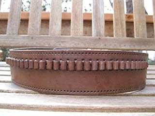 Shotgun Lilli Brown Genuine Leather - 22 Caliber - Cartridge Gun Belt