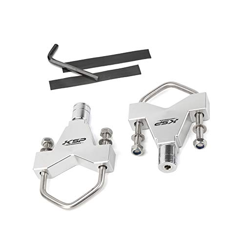 """KSP Anti-Theft Jack Mounts fit for Jeep Offroad Roof Rack Front Bumper Bull Bar Roll Cage,High Lift Tube Mounting Adjustable 2.5""""-3.14""""(Silver)"""