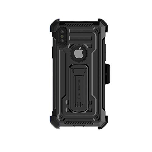 Ghostek Iron Armor Rugged iPhone Xs Max Case with Belt Clip Holster and Kickstand (Black)