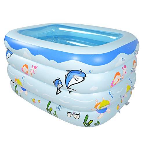 BEAGHTY Kinder Aufstellpool, Aufblasbarer Pool Baignoire Gonflable Bébé Nouveau-Né Piscine Pliable Gonflable, 143 * 105 * 75Cm