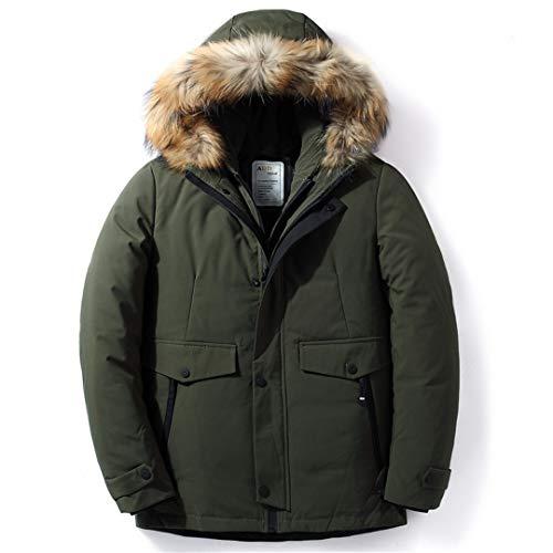 wkd-thvb Chaqueta de invierno impermeable 70% pato blanco abajo chaqueta de los hombres gruesa caliente con capucha collar Parkas