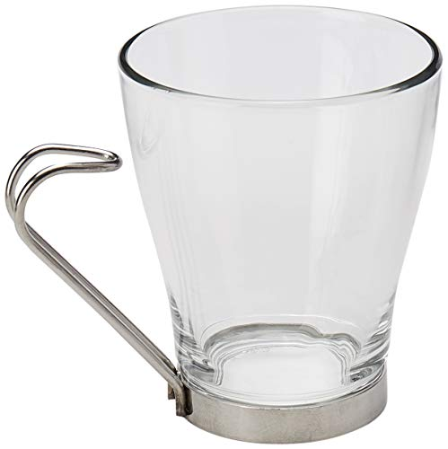Deborah de té/taza para capuchino 8,5 oz/240 ml - 6 unidades | Vasos para café, tazas de té de cristal