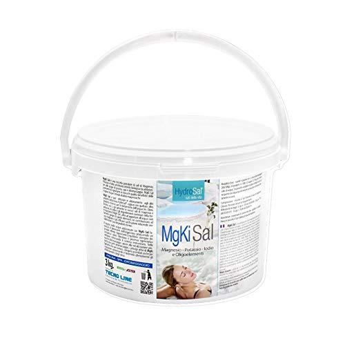 hydrosal MgKi Sal - Magnesio - Potasio - Yodo para agua de piscina e hidromasaje (Jacuzzi,Teuco, Dimhora,Intex,Bestway,etc.), Solución termal granulada - Envío inmediato (3 kg)