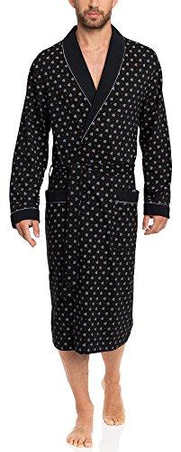 Timone Bata Larga Vestidos de Casa Hombre N1TH1N (Negro, M)