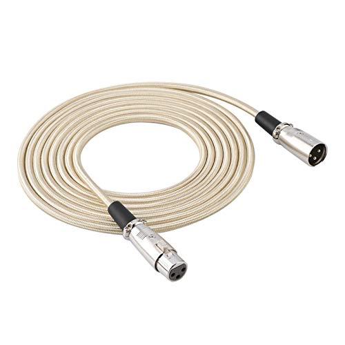 Liyeehao Cable XLR, Cable XLR Mic, 3 Pines Alta Resistencia a la...