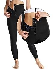 Hoge Taille Zweetbroek Vrouwen, Scrunch Leggings Butt Lifting Sauna Broek Sportbroek Legging Body Shaper Tummy Control voor Yoga Fitness