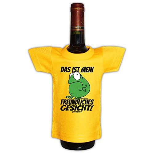 Goodman Design Originelle Flaschenverpackung - Das ist Mein freundliches Gesicht! - Mini T-Shirt als Flaschenüberzug