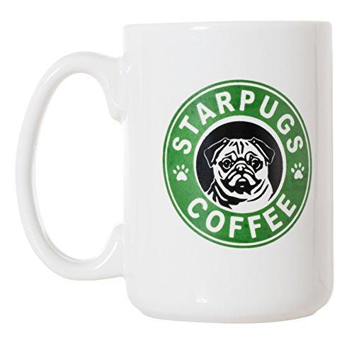 Starpugs Coffee Mug for Pug Dog Lovers - 15oz Deluxe Double-Sided Coffee Tea Mug