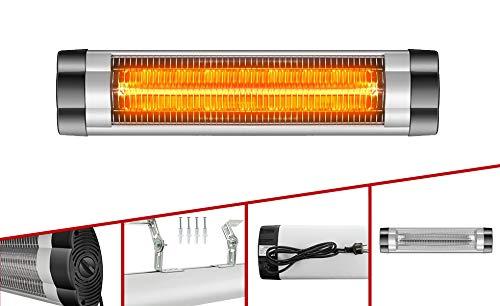 Arebos Infrarot Heizstrahler 2500 W | Regelbares Thermostat | IP34 Schutzart | Low-Glare-Technologie | Stufenlos regulierbar