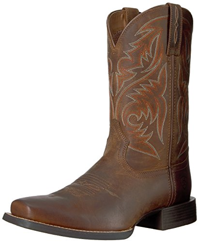 ARIAT mens Ariat Men's Sport Herdsman Western Boot, Powder Brown, 10.5 US