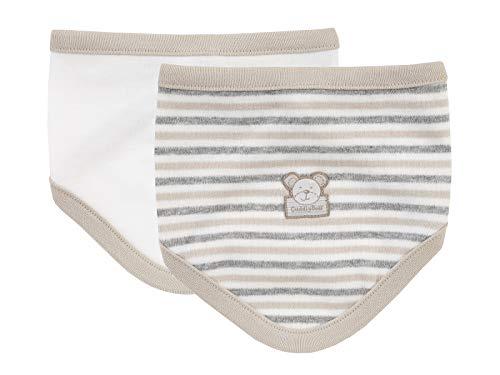 Jacky Unisex halsdoek voor baby's, verpakking van 2, leuk beermotief, off-white/ring/beige, eenheidsmaat, 317104