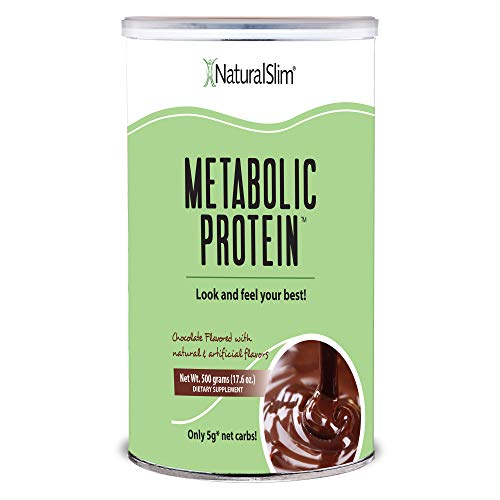"NaturalSlim Meal Replacement Whey Protein Shakes, Natural Aid for a ""Slow Metabolism"" with Ingredients to Suppress Appetite and Start of Your Day Burning Fat- Great Taste and Very Filling (Chocolate)"