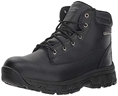 Skechers Men's Morson-SINATRO Hiking Boot, Black, 10.5 Medium US