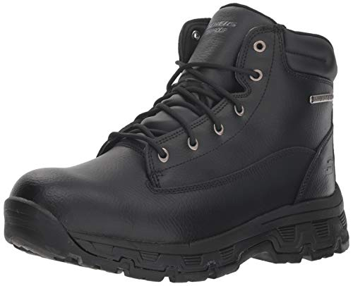 Skechers Men's Morson-SINATRO Hiking Boot, Black, 12 Medium US
