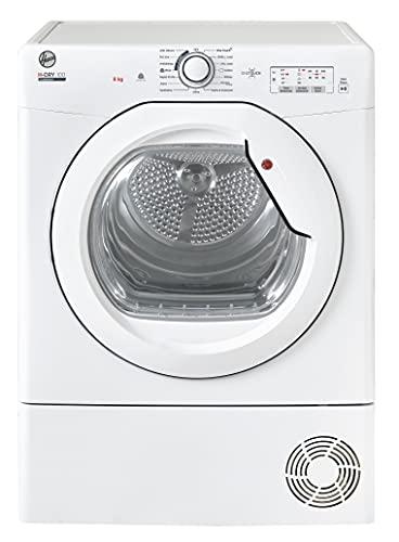 Hoover HLEC8LG Freestanding Condenser Tumble Dryer, Sensor Dry, 8 kg Load, White