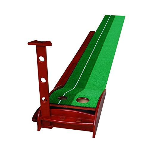 Buy JHHXW Golf Putting Mats Solid Wood Golf Practice Mat with Auxiliary Line, with Automatic Ball Re...