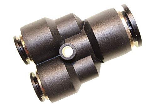 Conector neumático para manguera, conector de aire comprimido, pieza en Y, reduce diámetro de 12 mm a 2 x 8 mm de diámetro, adaptador, sistema de conexión, pieza de conexión atornillada