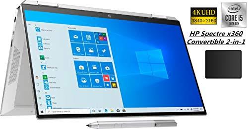 HP Spectre x360 2-in-1 13.3' 4K Ultra HD Touch-Screen Laptop Bundle Woov Mouse Pad   10th Gen Intel Core i5-1035G4   8GB RAM   256GB SSD   Fingerprint Reader   Backlit Keyboard   Windows 10