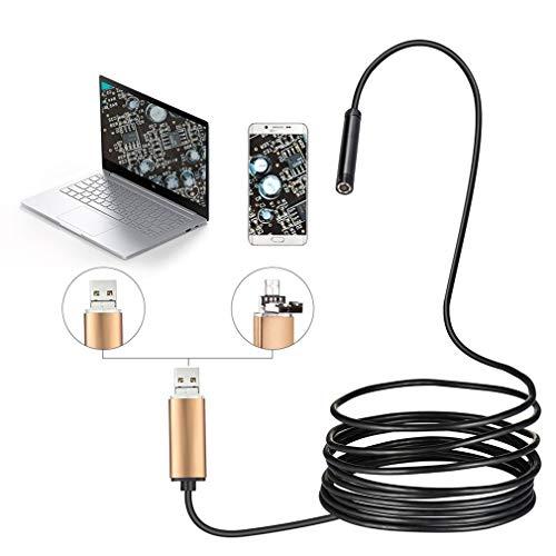 XY-M Endoskop Kamera,Typ-C-Mikrokamera-Spion 8-mm-Kamera-Inspektion Für Nasen-Hals-Hals Zur Pflege Für Android- Und Windows-PC-Endoskoplöffel Zur Visuellen Ohrreinigung