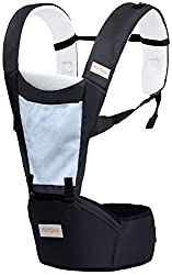 Little Pumpkin Classic Hip Seat Ergonomic 3 Way Carry Baby Carrier Bags for Baby|Kids|Infants|New Born|Boys|Girls of 0 Month to 2 Years (Black),R for Rabbit Baby Product Pvt. Ltd.