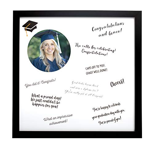 Kate & Milo Graduation Signature Guest Book Picture Frame, Grad Party Supplies, Best Wishes Message Board