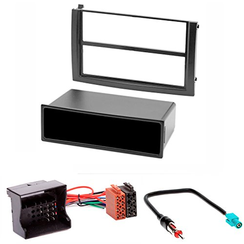 CARAV Façade d'autoradio 11-035-25-7 - Kit d'installation pour Skoda Fabia 2003-2006 avec poche, câble adaptateur ISO et antenne