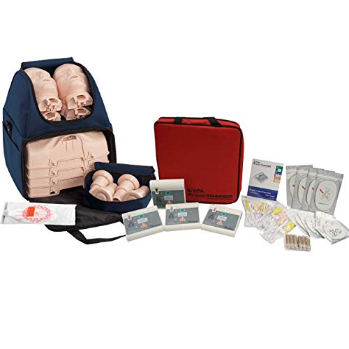 CPR Training Kit w Prestan Ultralite Manikins, WNL AED Trainers, MCR Medical
