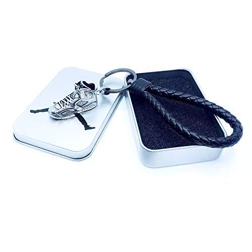 YAOUFBZ Sneaker Schlüsselbund,Simulation Titan Stahl Creative Metal Simulation Jordan Sneakers Schlüsselbund,Rucksack Anhänger,Coole Geburtstagsfeier Geschenk