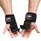 DMoose Weight Lifting Hooks (Pair), Hand Grip Support Wrist Straps for Men and Women, 8 mm Thick Padded Neoprene, Deadlift, Powerlifting, Pull up bar, Liftups, Shrugs