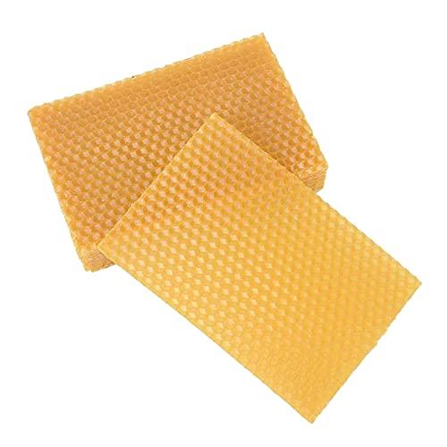 F Fityle 10 Pezzi di Foglie di Cera D'api, Base per Candele, Base Profonda