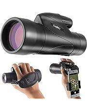 Gosky Nyaste 12 x 50 ED hög upplösning vattentätt monokulärt teleskop med smartphonehållare-BAK4 prisma för vilda djur fågel som tittar på jakt camping resa vilda djur säkerhet