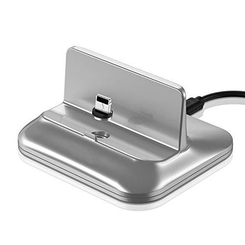 Tsriy Magnetische sluiting met ronde kop voor Apple Wireless Mobiele telefoonlader voor mobiele telefoon, Mobile Fast Charger, zilver