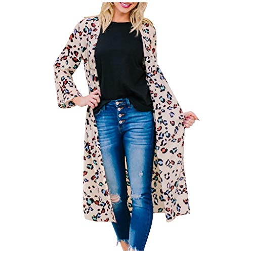 Best Bargain Seaintheson Womens Cardigan Sleeveless Coat,Casual Open Front Leopard Print Draped Vest...