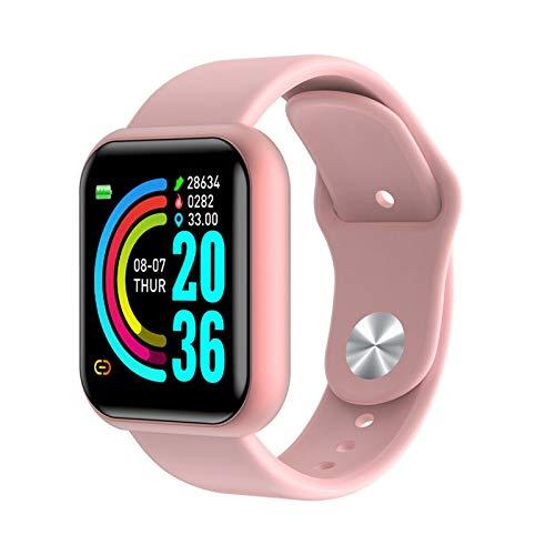 LXF JIAJU Moda Smart Pulsera Reloj Monitor De Ritmo Cardíaco Fitness Impermeable Deporte Pulsera Pedómetro Mujeres Hombres Reloj Pink
