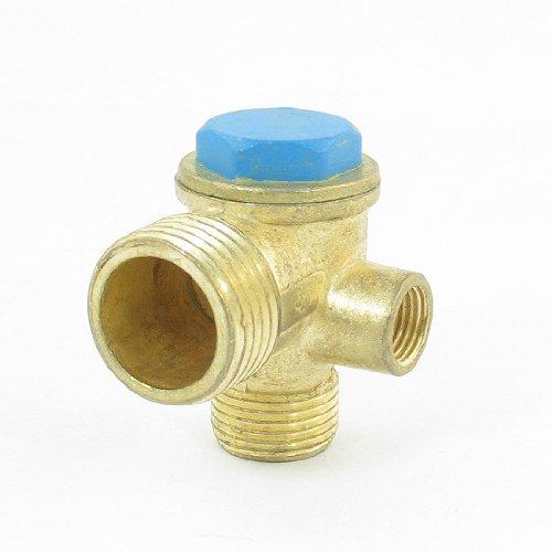 8.9mm 16mm 21mm schroefdraad Messing Air Compressor terugslagklep Goud Toon Blauw