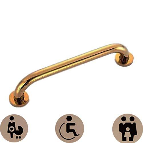 WYJW Douche Grab Bar Badkamer Veiligheid Handrail Douche Anti-slip Balans Railing Toegankelijk Koper Handgrepen Handrail Beugel Handrail Hardware Spa Handrail 35 cm/goud