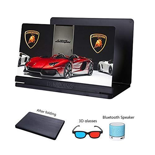 XYHWZY 20 Pulgadas 3D Amplificador Pantalla del Teléfono Móvil Portátil Lupa HD Luz Anti-Azul Zoom de 3 a 4 Veces Proteger Los Ojos Universal de Teléfono