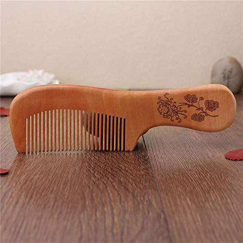 Vide 2 Pcs Naturel Pêche Bois Peigne Fermer Dents Anti-Statique Massage des Cheveux Soins des Cheveux Outils en Bois Accessoires De Beauté Accessoires De Beauté, Rouge Clair