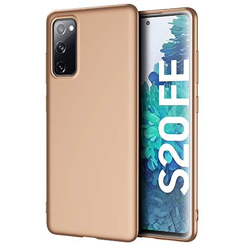 X-level für Samsung Galaxy S20 FE Hülle, [Guardian Serie] Soft Flex Silikon Premium TPU Echtes Handygefühl Handyhülle Schutzhülle Kompatibel mit Samsung Galaxy S20 FE 5G Hülle Cover - Gold