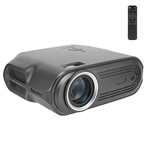 Gaeirt Mini Proyector Inteligente, LCD de Flujo de 6000 LED 1280 X 720 Video Proyector de Películas ± 15 · Proyector de Cine en Casa con Corrección Trapezoidal Manual Altavoces Incorporados(EU)