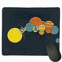 宇宙柄 星 マウスパッド 運びやすい オフィス 家 最適 おしゃれ 耐久性 滑り止めゴム底付き 快適操作性 30*25*0.3cm